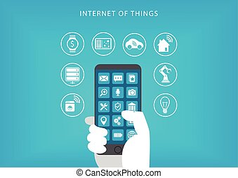 Internet of things with smartphone