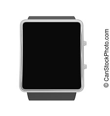 Smart watch new technology electronic device 3D illustration...