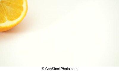 Oranges on white background - citrus fruit isolated on white...