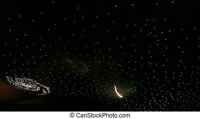 Stretch ceiling in form of starry sky - In form of starry...