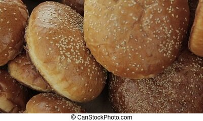buns with sesame seeds tasty