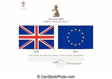 brexit flags - United Kingdom withdrawal from the European...