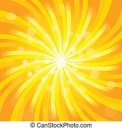 Sunburst effect