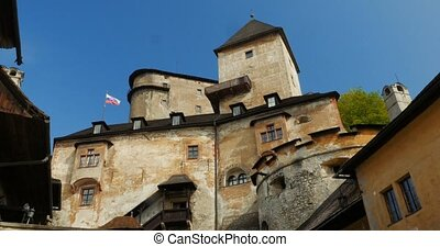 4K, Oravsky Hrad, Slovakian Castle - Graded and stabilized...