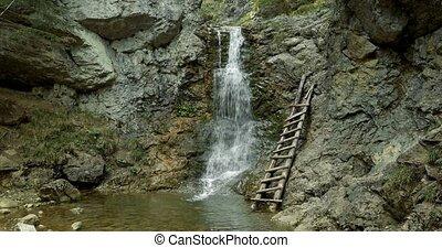 4K, Kvacianska Dolina Waterfall, Slovakia - Graded and...