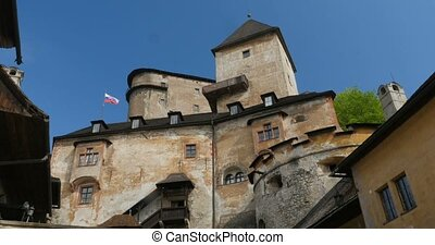 4K, Oravsky Hrad, Slovakian Castle - Untouched and flat...