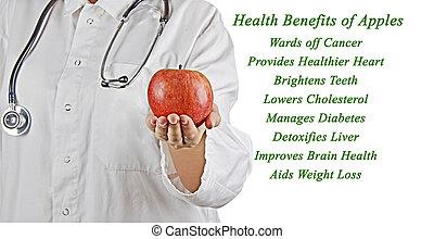 saúde, benefícios, maçã
