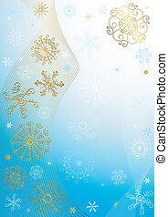 Abstract blue christmas frame