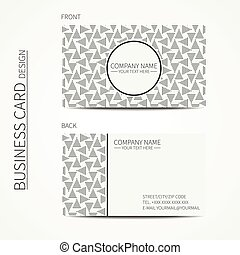 Vector simple business card design. Template. Black and...