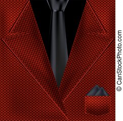 abstract black and red suit