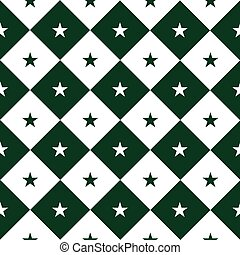 Star Green White Chess Board Diamond Background Vector...