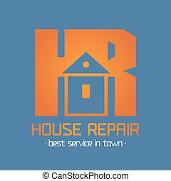 Home, house repair vector logo, badge, design element,...