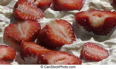 Strawberries with cream - Strawberries with cream for...