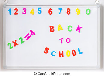 Back to school text - Colorful back to school alphabet...