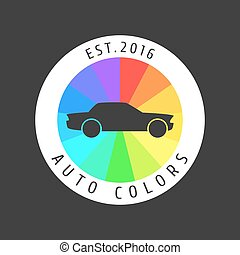 Car paint vector logo template, badge, icon. Airbrushing...