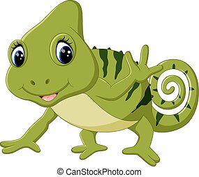 Cartoon cute Chameleon - illustration of Cartoon cute...