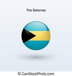 Bahamas round flag Vector illustration - Bahamas round flag...