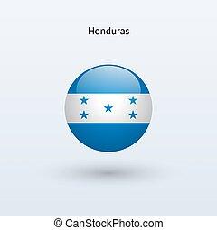 Honduras round flag Vector illustration - Honduras round...