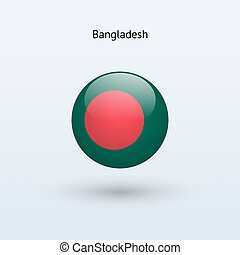 Bangladesh round flag Vector illustration - Bangladesh round...