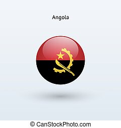 Angola round flag Vector illustration - Angola round flag on...