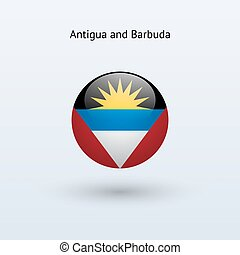 Antigua and Barbuda round flag. - Antigua and Barbuda round...