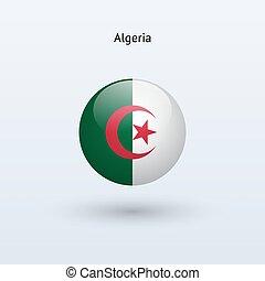 Algeria round flag Vector illustration - Algeria round flag...