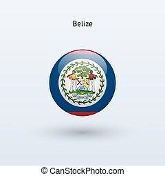 Belize round flag Vector illustration - Belize round flag on...