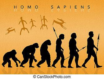Homo sapiens - illustration of Homo sapiens