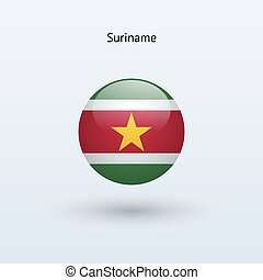Suriname round flag Vector illustration - Suriname round...