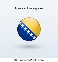 Bosnia and Herzegovina round flag. - Bosnia and Herzegovina...