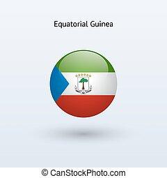 Equatorial Guinea round flag. Vector illustration. -...