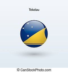 Tokelau round flag Vector illustration - Tokelau round flag...