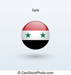 Syria round flag Vector illustration - Syria round flag on...