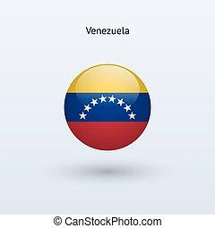 Venezuela round flag Vector illustration - Venezuela round...