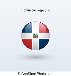 Dominican Republic round flag - Dominican Republic round...
