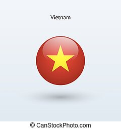 Vietnam round flag Vector illustration - Vietnam round flag...