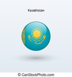 Kazakhstan round flag Vector illustration - Kazakhstan round...