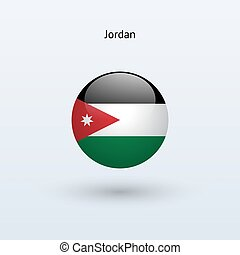 Jordan round flag Vector illustration - Jordan round flag on...