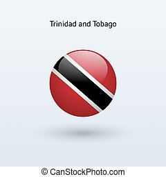 Trinidad and Tobago round flag - Trinidad and Tobago round...