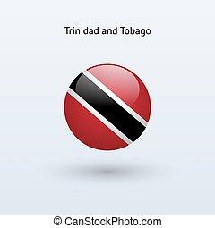 Trinidad and Tobago round flag. - Trinidad and Tobago round...