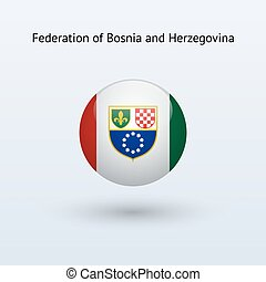 Federation of Bosnia and Herzegovina round flag. -...