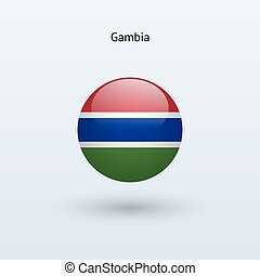 Gambia round flag Vector illustration - Gambia round flag on...