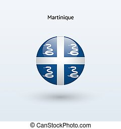 Martinique round flag Vector illustration - Martinique round...