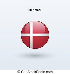 Denmark round flag Vector illustration - Denmark round flag...