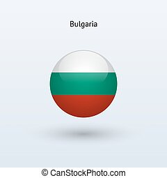 Bulgaria round flag Vector illustration - Bulgaria round...