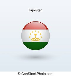 Tajikistan round flag Vector illustration - Tajikistan round...