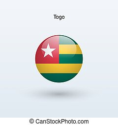 Togo round flag Vector illustration - Togo round flag on...