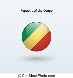 Republic of the Congo round flag - Republic of the Congo...