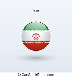 Iran round flag Vector illustration - Iran round flag on...