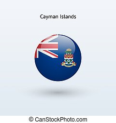 Cayman Islands round flag. Vector illustration. - Cayman...